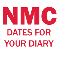 dates for your diary NMC