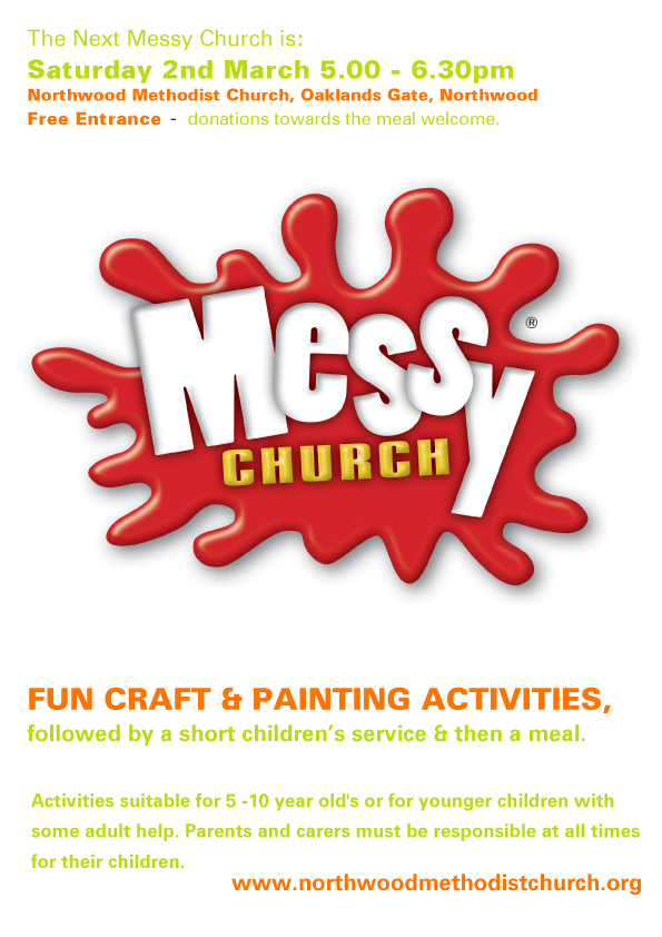 Messy church at Northwood Methodist Church March 2nd 2019