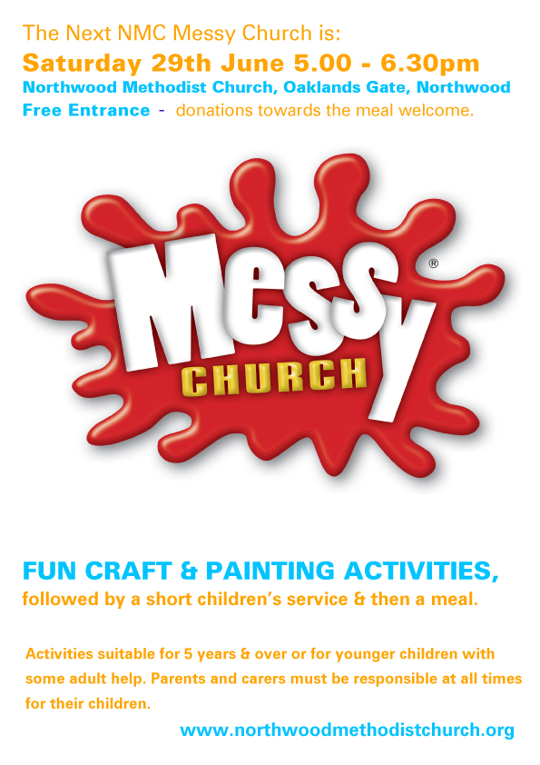 messy church Saturday june the 9th