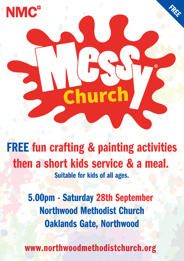 messy church at Northwood methodist church, September 28th 2019