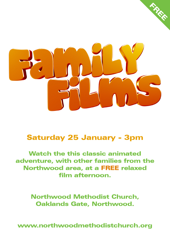 family film 25th January 2020, 3pm start.
