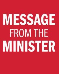 message from the minister